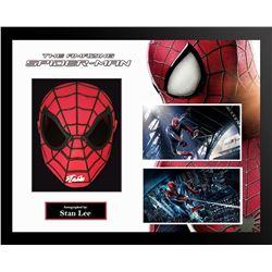 Spiderman Stan Lee Signed Spiderman Mask