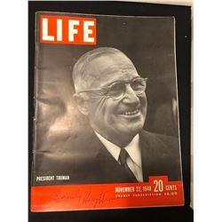 Harry Truman Signed LIFE Magazine
