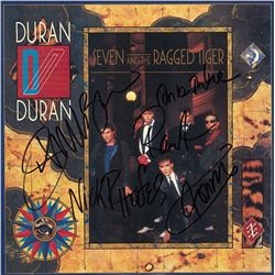 Duran Duran Band Signed Seven And The Ragged Tiger Album