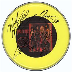 Motley Crue Band Signed 12 Inch (30.5 cm) Drum Head
