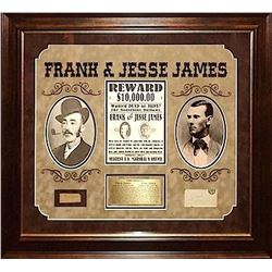 Frank James  & Jesse James signed Collage