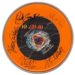 Def Leppard Band Signed 12 Inch (30.5 cm) Drum Head