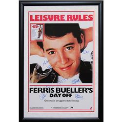 Ferris Bueller's Day Off Signed Movie Poster