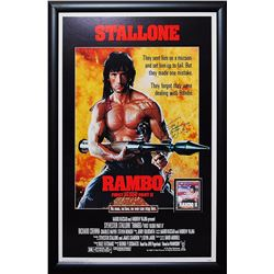 Rambo First Blood: Part II Autographed Framed Poster