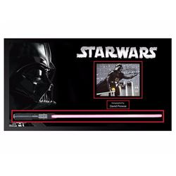 Darth Vader Framed Signed Functional Lightsaber