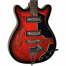 Animals Band Signed Dark Burnt Tobacco 1950 – 1960's Teisco Single Cut Hollow Body Vintage Guita