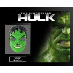 Stan Lee Signed Hulk Framed Mask