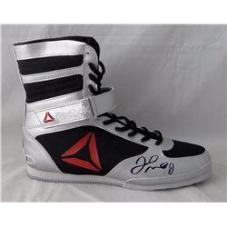 Floyd Mayweather Autographed Reebok Boxing Shoe Right Beckett BAS *Black*