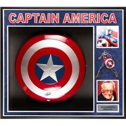 Captain America Framed Signed Shield