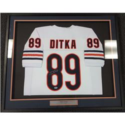 Chicago Bears Mike Ditka Autographed Framed White Jersey PSA/DNA