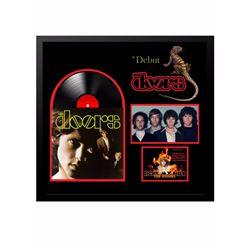 "The Doors ""The Doors"" Signed Album Collage."