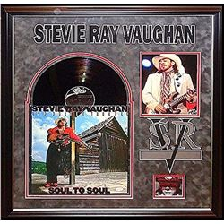 """Stevie Ray Vaughan """"Soul to Soul"""" Signed Album Collage"""