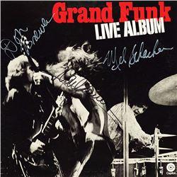 Grand Funk Railroad Band Signed Grand Funk Live Album