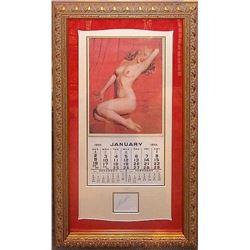 Marilyn Monroe Signed Playboy Calendar