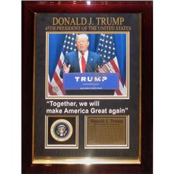 Donald J. Trump signed Collage