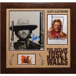 Clint Eastwood signed Collage