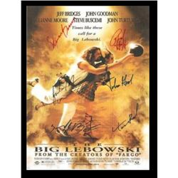 The Big Lebowski Signed Movie Poster