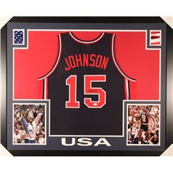 Magic Johnson Signed Team USA Jersey