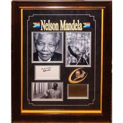Nelson Mandela signed Collage