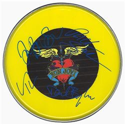 Bon Jovi Signed Drum Head