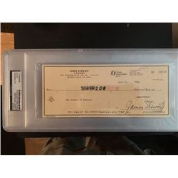 PSA/DNA Jimmy Stewart Signed Check