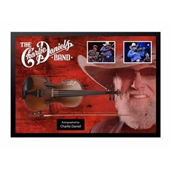 Charlie Daniel Signed/Framed Fiddle