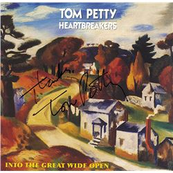 Tom Petty Signed Into The Great Wide Open Album