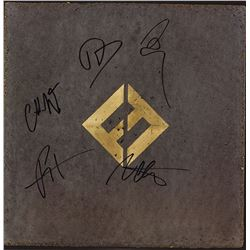 Foo Fighters Band Signed Concrete And Gold Album