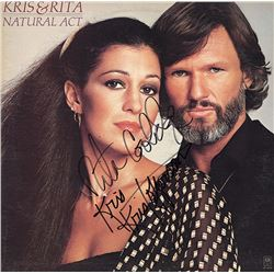 Kris Kristofferson Rita Coolidge Signed Natural Act Album