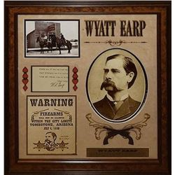 Wyatt Earp signed Collage