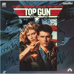 Top Gun Cast Signed Movie Laserdisc Album