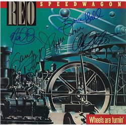 REO Speedwagon Band Signed Wheels Are Turnin' Album