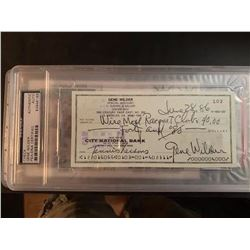 PSA/DNA Gene Wilder Signed Check