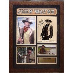 John Wayne Signed Photo Collage
