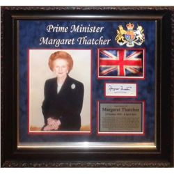 Margaret Thatcher signed Collage