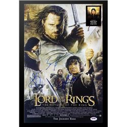 Lord of the Rings: Return of the King signed movie poster.