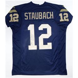 Roger Staubach Signed College Style Jerseys (No Logos)