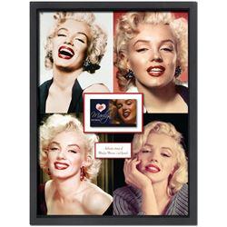 Marilyn Monroe Framed Lips Impression Collage
