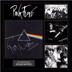 """Pink Floyd Roger Waters """"Dark Side of the Moon"""" Signed Album Collage"""