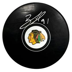 Brad Richards Signed Chicago Blackhawks Logo Hockey Puck