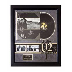 """U2 """"Joshua Tree"""" Signed Album Collage."""