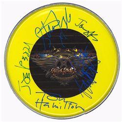 Aerosmith Band Signed 12 Inch (30.5 cm) Drum Head