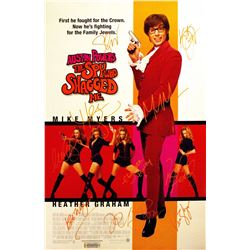 Austin Powers - The Spy Who Shagged Me Signed Movie Poster