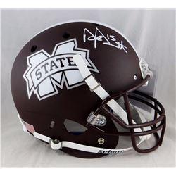 Dak Prescott Autographed Miss State F/S Matte Schutt Helmet-JSA W Auth