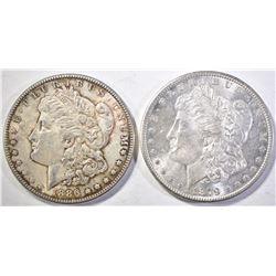 1879-S & 1886 MORGAN DOLLARS  CH BU