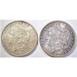 1882-O & 1883-O MORGAN DOLLARS  CH BU
