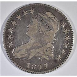 1817 BUST HALF DOLLAR, VF