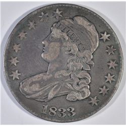 1833 BUST HALF DOLLAR, XF