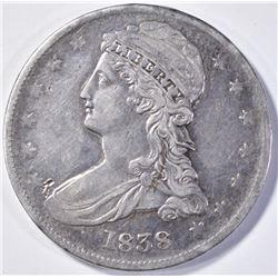 1838 BUST HALF DOLLAR  REEDED EDGE