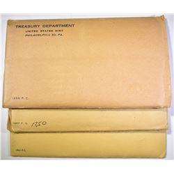 1956, 57, 61 PROOF SETS